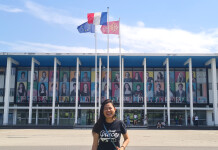 Columnist UK & Europe, Ivone Marselina Nugraha, took a picture in front of Université Paul Sabatier Toulouse III, after finishing her 2nd Semester, June 2021