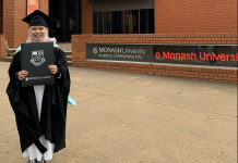 Mugni on her graduation day in 2021. Source: Personal documentation